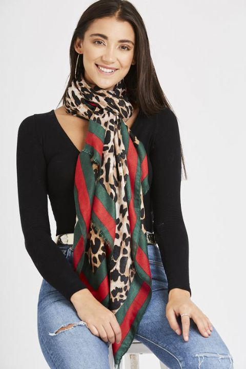 Animal Leopard Scarf